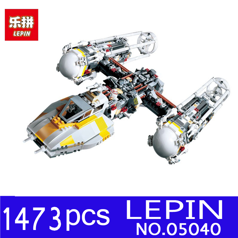 LEPIN 05040 1473Pcs Star Series Wars Y-wing Attack Starfighter Model Building Blocks Bricks Kits Children Toys Compatible 10134 lepin 05040 y attack starfighter wing building block assembled brick star series war toys compatible with 10134 educational gift