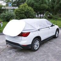 X AUTOHAUX Silver Tone Soft Aluminum Car Front Window Sun Shade Shield UV Heat Dust Resistance