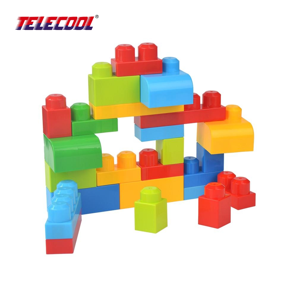 TELECOOL 26Pcs Very Big Building Blocks City DIY Creative Bricks Toys Child Jumbo Building Blocks Kids Toy Compatible with Lepin superwit 72pcs big size city diy creative building blocks brick compatible with duplo sets lepin educational toys children gifts