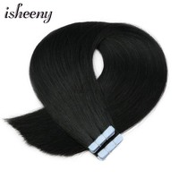 Isheeny 16 18 20 22 Premium Remy Double Drawn Tape In Human Hair Extensions Black Brown Blonde Pure Color 20pc 40pc