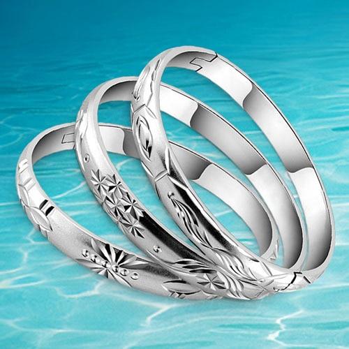 حقيقي الصلبة الفضة الإسورة الصرفة 2014 - مجوهرات الأزياء