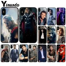 Yinuoda Chris Hemsworth Avengers Thor In Stocked Mobile Shell for iPhone 6S 6plus 7plus 8Plus X Xs MAX 5 5S SE XR Case(China)