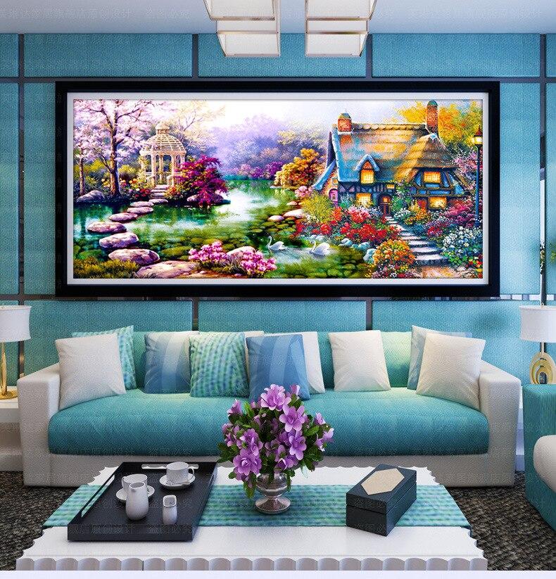 DIY 5D Diamond Embroidery Painting Cross Stitch Kit Home Wall Decor Handicrafts