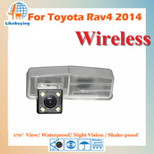 Беспроводной 1/4 Цвет ПЗС заднего вида Камера/Парковка сзади Камера для Toyota RAV4 2014 Ночное видение/обзора 170 градусов /Водонепроницаемый
