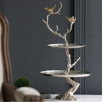 61cm Hight 2 Tier India Made Aluminum Serving Tray / Bird Stand Tree Branches / 3.2kg