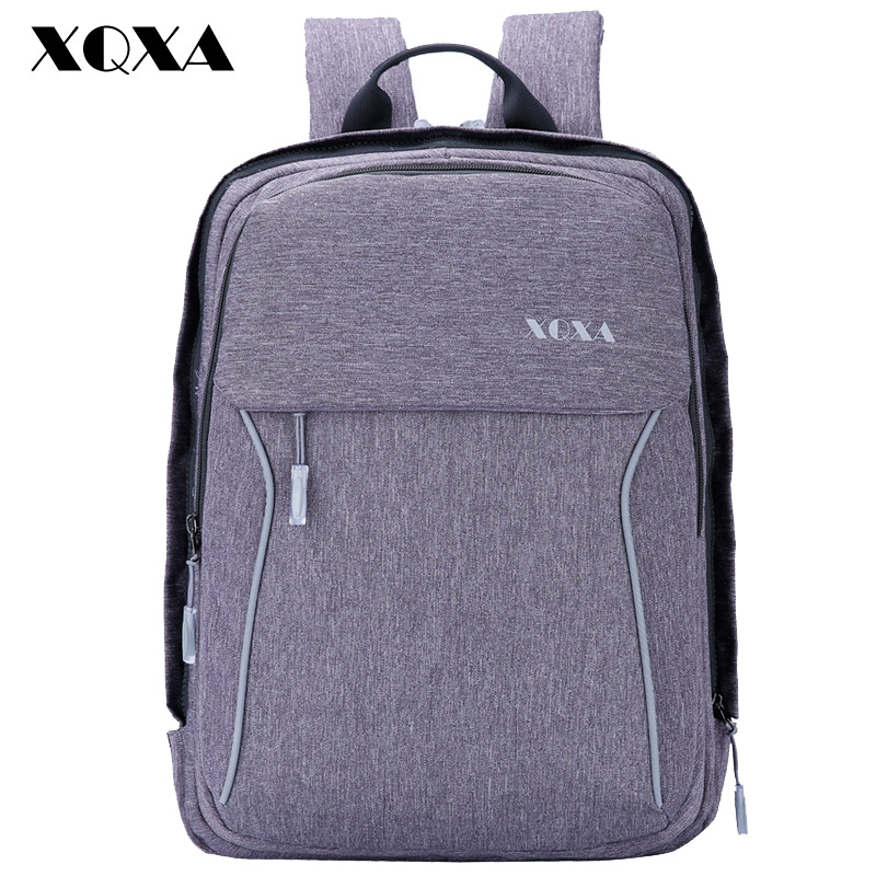 XQXA Exchangeable Backpack School Bags for Boys Large College Backpack Men Laptop Bag Pack 15.6 17 Inch Brand Unique Design
