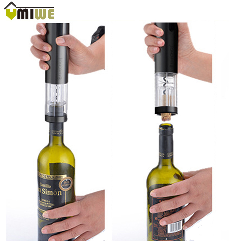 Automatic Wine Opener Electric Red Wine Opener With Foil Cutter AA Battery Cordless Wine Bottle Opener Home kitchen Tools