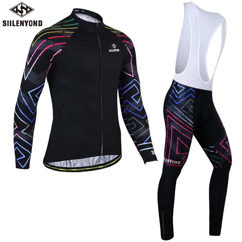 Siilenyond Winter Long Sleeve Pro Thermal Fleece Cycling Jersey Sets Bike Clothing Maillot Equipacion Ciclismo Bicycle Clothes black thermal fleece cycling clothing winter fleece long adequate quality cycling jersey bicycle clothing cc5081
