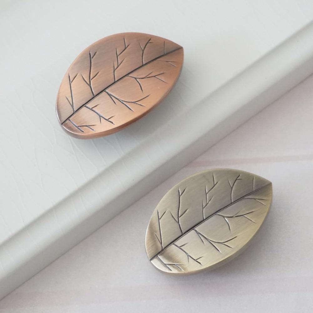 Decorative Kitchen Cabinet Knobs: Unique Dresser Knob Drawer Knobs Pulls Handles Leaf