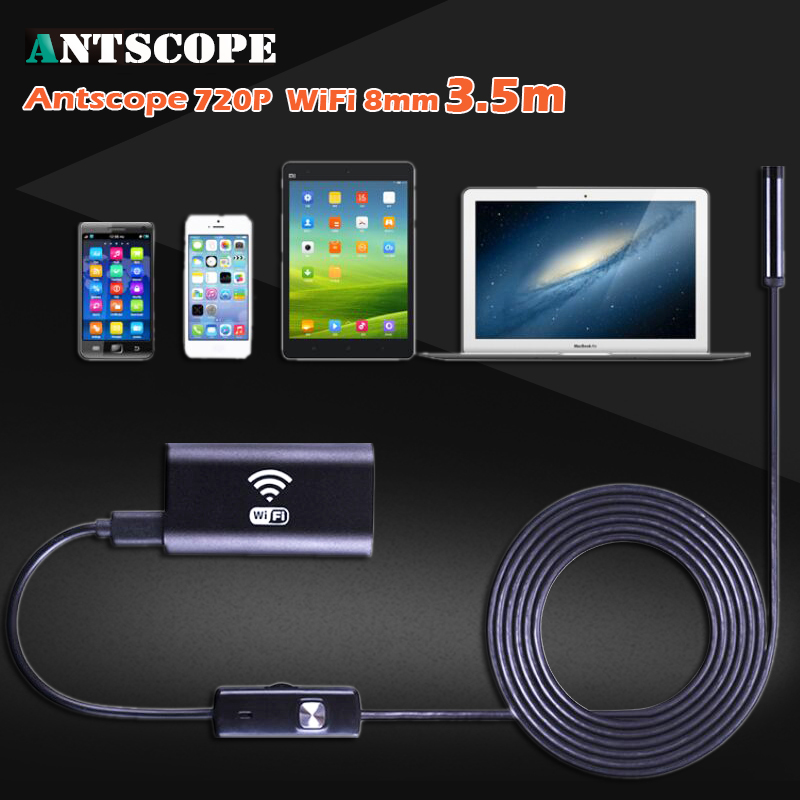 HD 720P WiFi Endoscope Borescope Waterproof Inspection Camera Snake IOS Iphone Android Windows Endoscope 8mm 3.5M Camera 35 mool 10m wifi usb waterproof borescope hd endoscope inspection camera for android ios