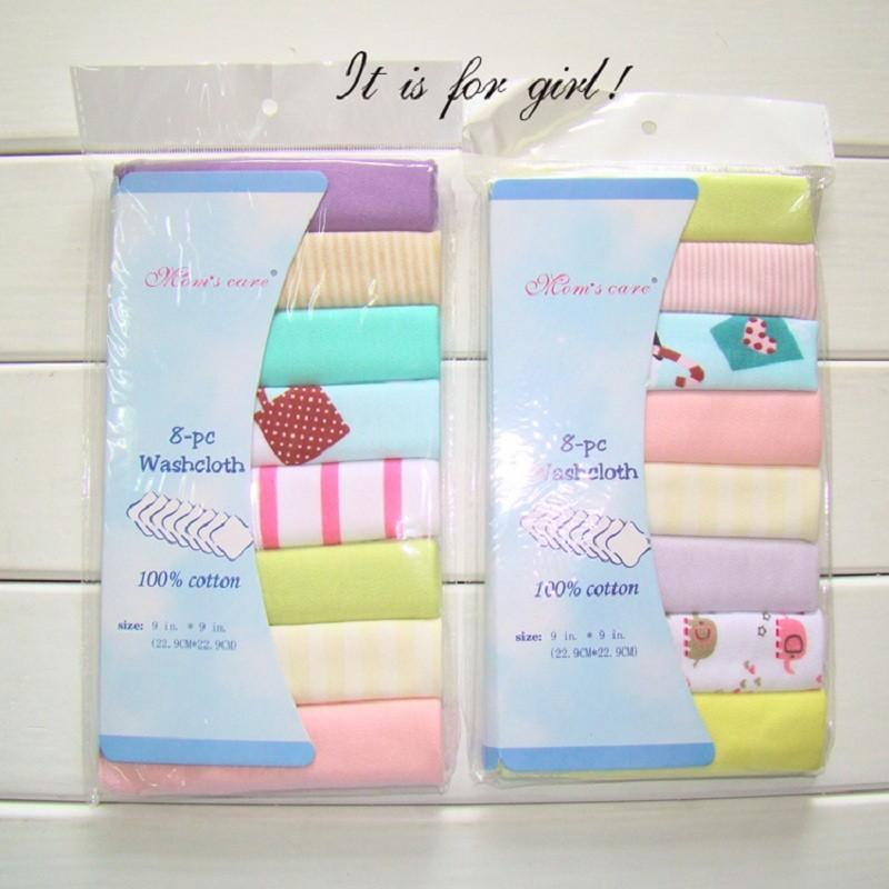 8pcs/pack 100% Cotton Newborn Baby Towels