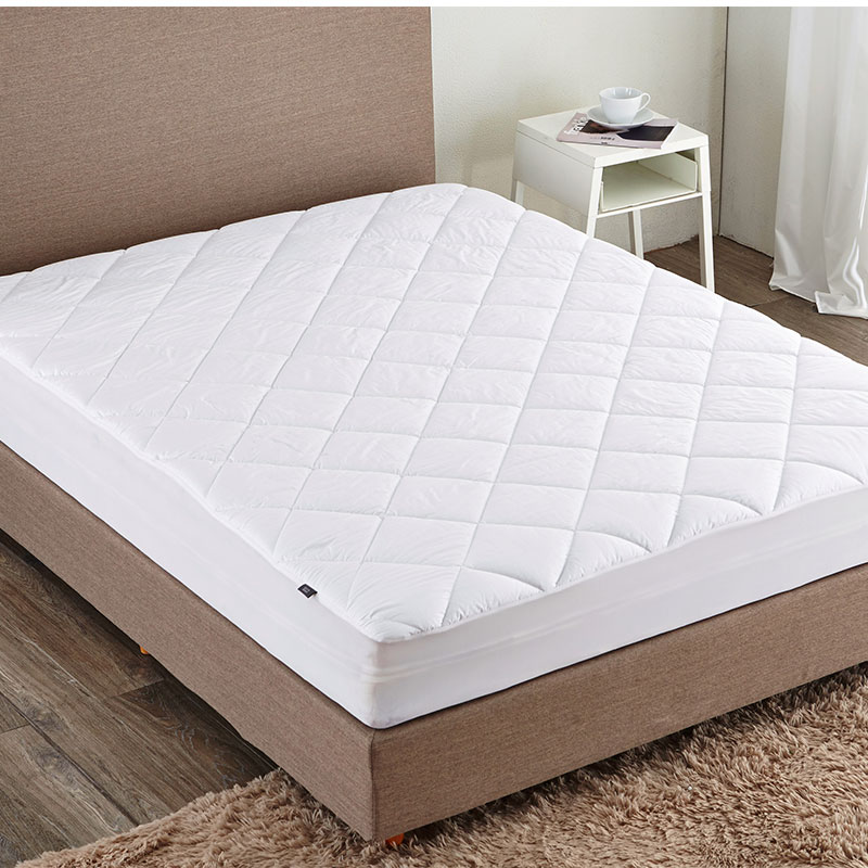 Puredown Diamond High Quality Down Mattress Pad White Hotel Home Bedding Protector Down Alternative Mattress Pad/Topper