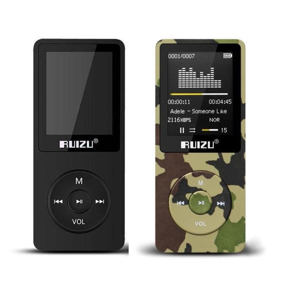 Original Ruizu X02 Gewidmet 100% Original Englisch Version Ultradünne Mp3 Player Mit 8 Gb Speicher Und 1,8 Zoll Bildschirm Kann Spielen 80 H Mp3-player Unterhaltungselektronik
