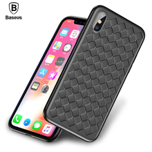 Baseus Weave Case For iPhone X IX Luxury Ultra Thin Slim Back Cover Case For iPhone 10 Capinhas Soft TPU Coque Fundas