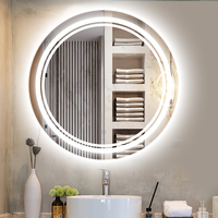 Salon Round Led Mirror lamp wall light fixture master room Led mirror Light Waterproof Bathroom Led Wall Lamp Hotel wall sconce