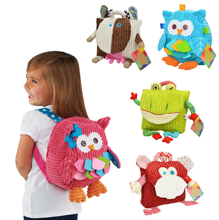 5 Styles cute cartoon Children Packing Food Picnic Bags kindergarten plush backpack bag kid School Bags