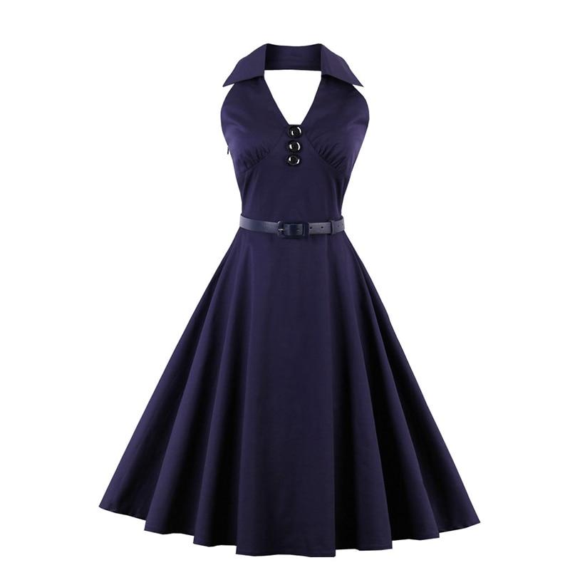 font b Women s b font Summer Office Dresses Lady Work Ladies Elegant Frilly Retro