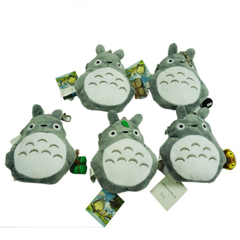 20Pcs lot 13 13 3 CM My Neighbor Totoro Coin Purse Japanese Cartoon Lovely Plush Totoro