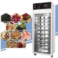 10 katmanlı 1600W dönen paslanmaz çelik gıda kurutucu meyve sebze kurutma makinesi aperatifler otlar Pet gıda meyve kurutma makinesi