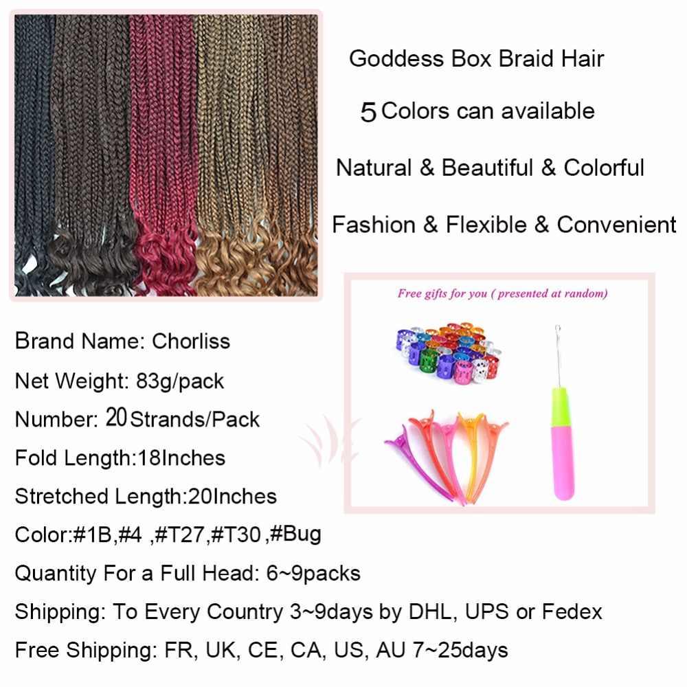 Chorliss богиня поле косу вязанная косами Твист волос Ombre Kanekalon волокна синтетических объемного плетения волос 18 дюймов 83 г