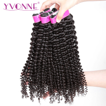YVONNE Kinky Curly Virgin Brasilian Hair Weave Bundles 3 stk. Human Hair Bundles Natural Color Free Shipping