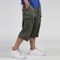 Summer Men S Multi Pocket Casual Cargo Shorts Men Cotton Loose Short Mens Calf Length Work
