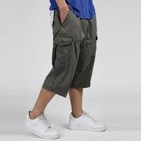 Summer Men S Multi Pocket Casual Cargo Shorts Men Cotton Loose Short Mens Calf Length Work
