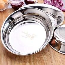 Высокое качество 304 нержавеющая сталь суп фрукты десертная тарелка ableware прочное блюдо кухонные чаши аксессуары bandeja блюдо для рыбы