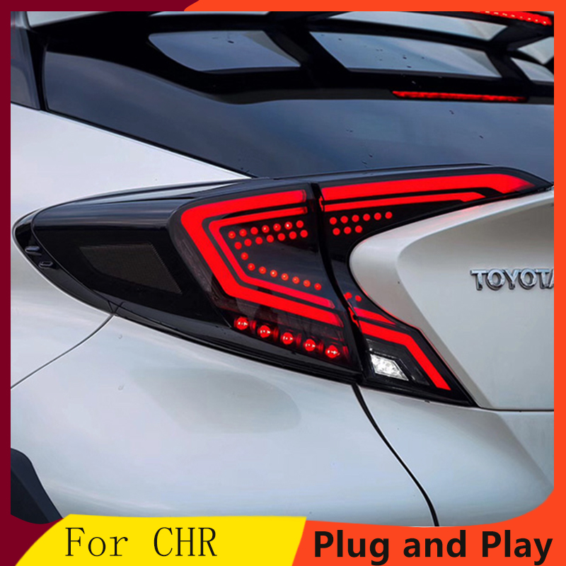 Car styling Tail Lights For Toyota CH-R C-HR CHR 2017-2018 Led Tail Lights Fog lamp Rear Lamp DRL+Brake+Park+Signal lights