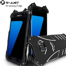 R-JUST batman for samsung galaxy s7 edge metal aluminum Shockproof Cover case s7edge g9350 Armor anti-knock phone cases