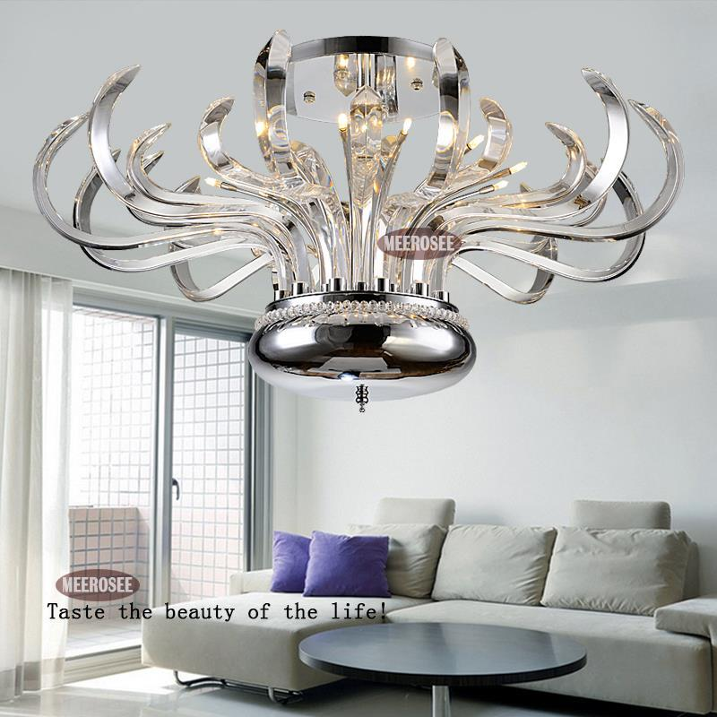 Floral Pure Crystal Chandelier Lights Luxurious Modern