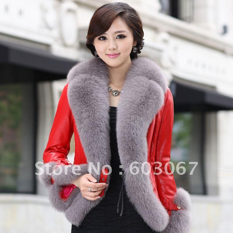02456b8a049d1 бесплатная доставка из естественной кожи одежда из кожи Китай натуральный  мех Lisa верхняя одежда 1082