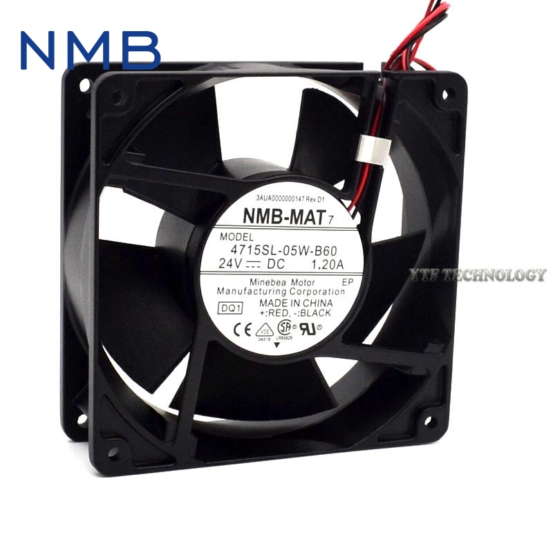 Brand new original converter fan 4715SL-05W-B60 humidifier special waterproof 24V axial fan 119*119*38mm original s a n j u sj1738ha2 172 150 38mm 220vac 0 31a axial fan