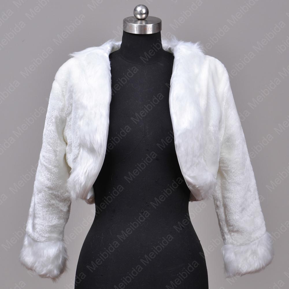 pas cher de marie accessoires de marie veste avec manches en fausse fourrure bolero de mariage - Bolero Fourrure Mariage Pas Cher