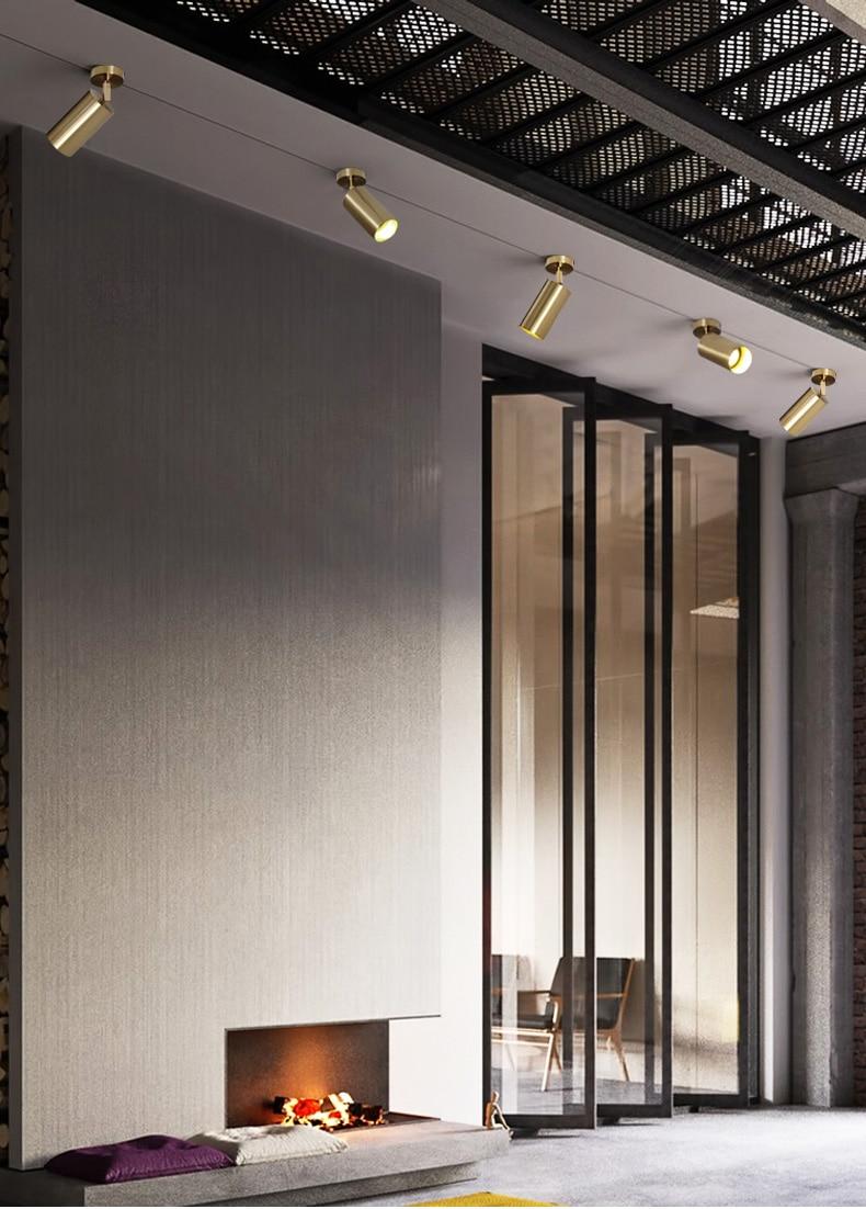 HTB15qpZXPzuK1Rjy0Fpq6yEpFXaF Artpad Golden Modern Ceiling Light Neutral White Lighting TV Backdrop Living Room Hotel Office Club Bar Cloth Store Ceiling Lamp