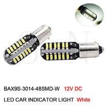 2x BAX9S H6W 6000 k Bianco 4300 k Bianco Caldo 48SMD Chip Canbus Nessun Errore LED Luci di Parcheggio Per Mercedes w210 E420
