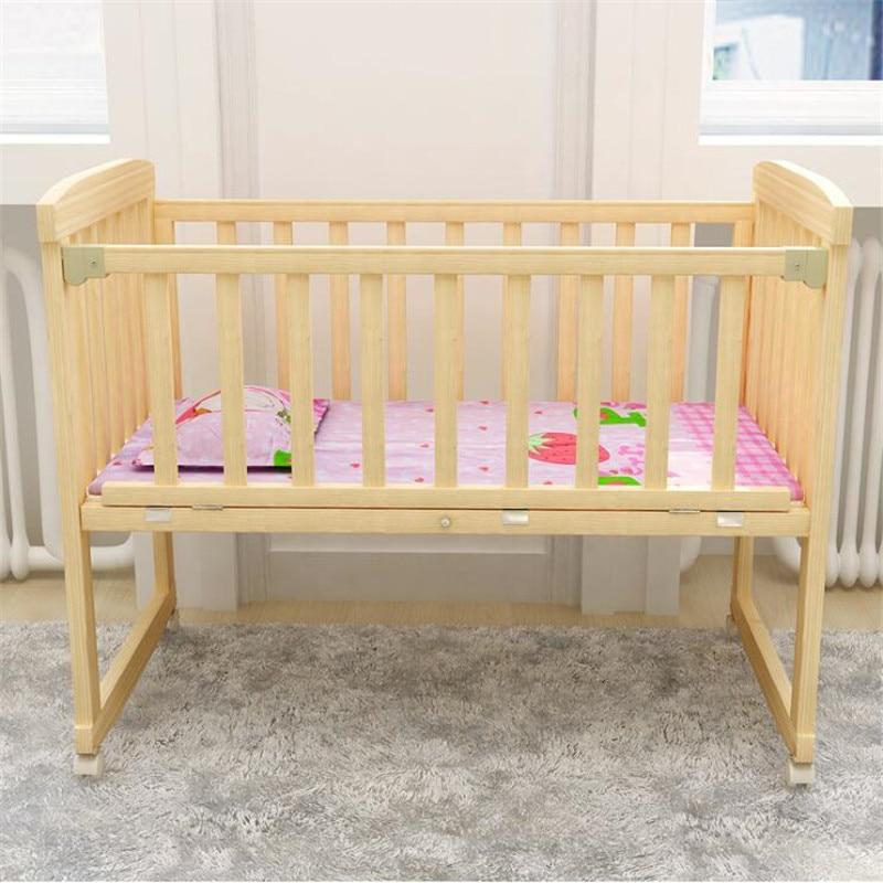 Berceaux bébé berceau en bois naturel peut changer pour bureau chaise à bascule lit enfants 0-3 ans bébé (cadeau gratuit: moustiquaire) - 6