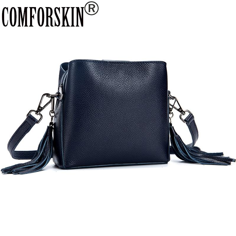COMFORSKIN Luxury Handbags Women Bags Designer Genuine Women Messenger Bag 2018 New Arrivals Brand Female Bag