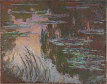 Reproduction Unframed Painting Water Lilies  Claude Monet Custom Photo Printed Oil Canvas For Wall Decoration