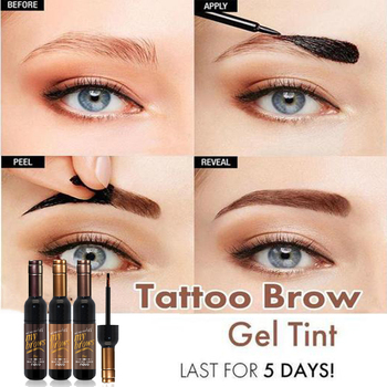 Red Wine Tattoo Brow Gel Tint Waterproof Peel Off Eye Brow Tattoo Long-lasting Dye Eyebrow Shadow Gel Makeup Cosmetics Маникюр