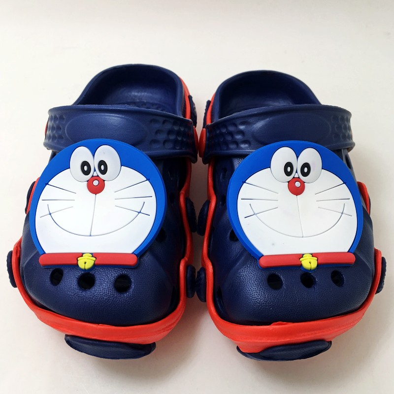 Kids Garden Sandals Clogs Cartoon Doraemon/Tomato/Bread Toast EVA Slippers Shoes For Boy ...