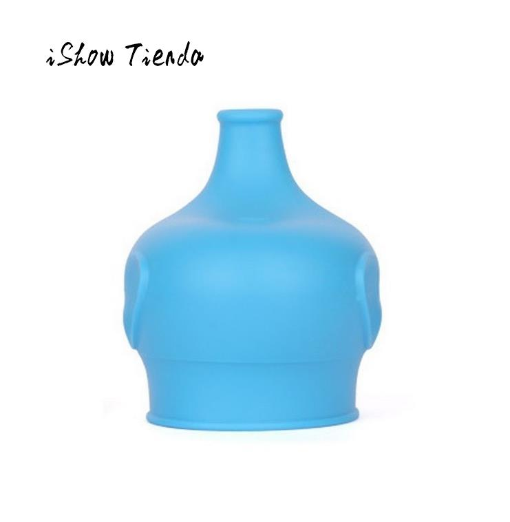 New Design Cute Pattern Elephant Bottle Cover Safety For Kids Silicone Sippy Lids - Make Most Cups a Sippy Cup Leak Proof