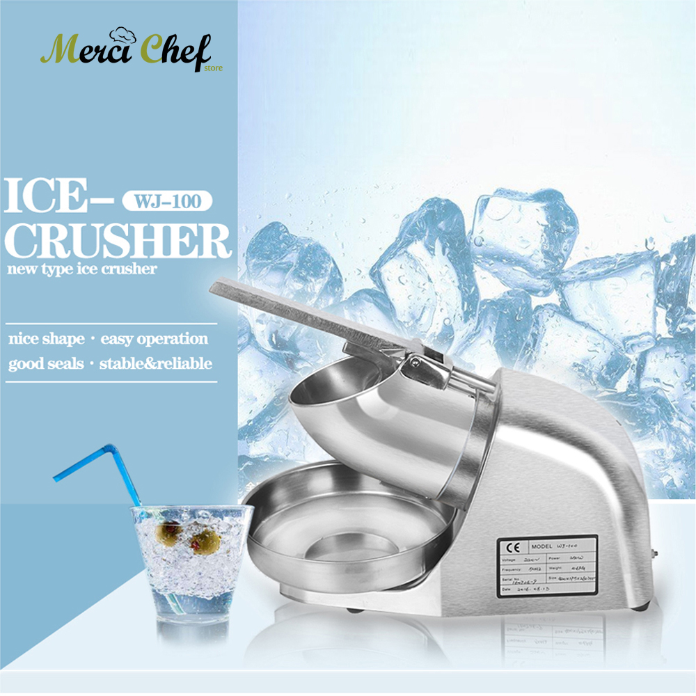ITOP Electric Ice Crusher Stainless Steel Block Ice Shaver/Manual Ice Crusher Machine Smoothie Cocktail Maker For Drink Bar 2016 new generation powerful 220v electric ice crusher summer home use milk tea shop drink small commercial ice sand machine zf
