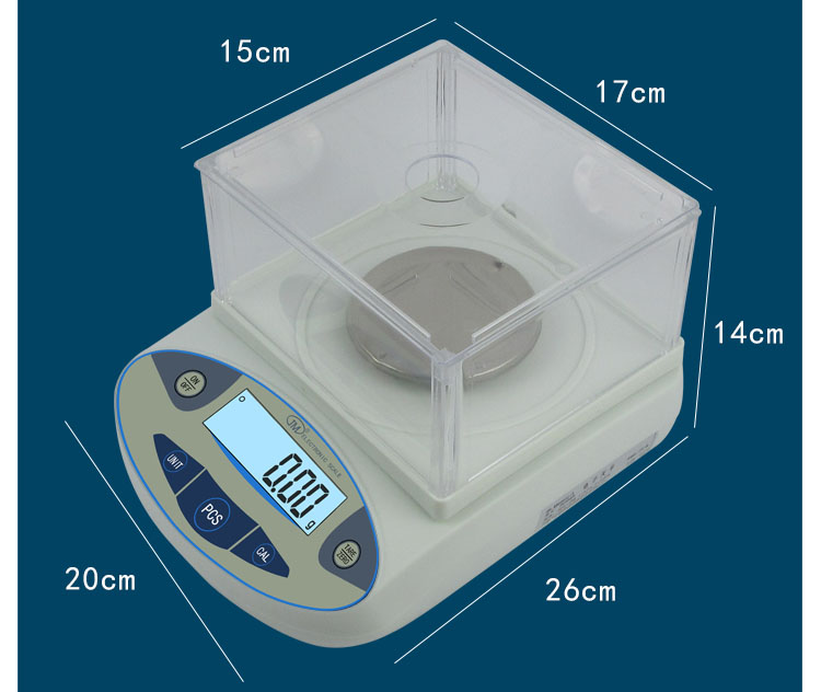 High Precision 400 x 0.001g 1mg Digital Lab Analytical Balance Laboratory Scale Jewelery Electronic w/ LCD display Weight SensorHigh Precision 400 x 0.001g 1mg Digital Lab Analytical Balance Laboratory Scale Jewelery Electronic w/ LCD display Weight Sensor