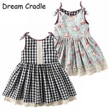 Dream Cradle / 2019 New Design , 2-Side Baby Girls Dress ,Vintage Lace Kids