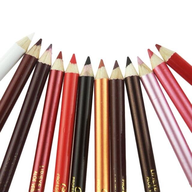 GORON 12Pcs/Box  Lip Liner Pencil Waterproof Lipliner Contour Cosmetics Makeup Lips Set Lip Pencil Matte Women Eyebrow JA029
