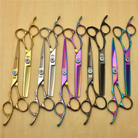 Left Hand 6 0 Japan Kasho 440C Professional Human Hair Scissors Hairdressing Scissors Cutting Shears Thinning