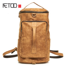 AETOO Ultra-light leather men's first layer of leather hand luggage bag multi-functional leisure shoulder bag shoulder bag