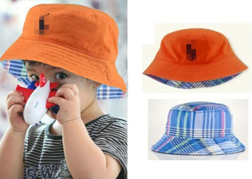 3a354941626cb Baby Cool POLO Bucket Hats Summer Plaid sun hat Casual Berets visor fishing  cap Kids accessories Baby hats   caps-in Hats   Caps from Mother   Kids on  ...