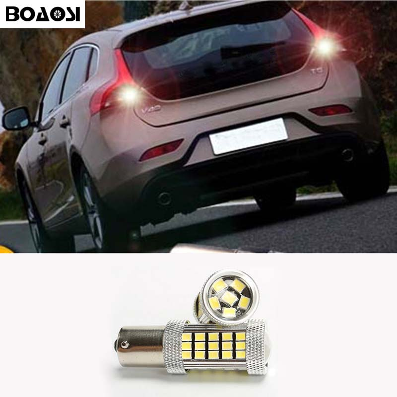 BOAOSI 1x Canbus 1156 LED Car Backup Reverse Stop Parking Light Lamp Bulb For volvo xc90 xc60 v70 s80 s40 v60 c30 v50 wljh 2x canbus 20w 1156 ba15s p21w led bulb 4014smd car backup reverse light lamp for bmw 228i 320i 328d 328i 335i m3 x1 x4 2015